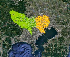 동경/도쿄 지도